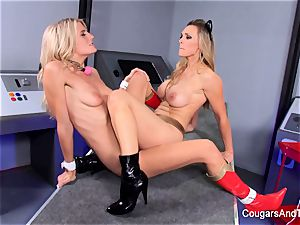 bondage and roleplay with two super super-fucking-hot blondes