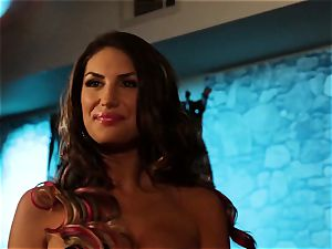 August Ames and Lily Cade rope on sofa fucky-fucky