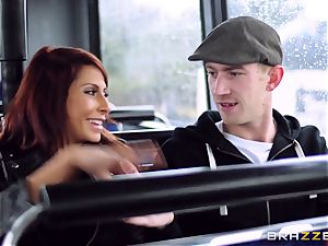 Madison Ivy and Jasmine Jae are drilled on a bus
