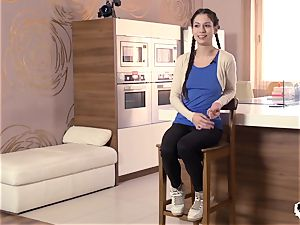 HER restrict - gonzo anal with Russian babe Arwen Gold