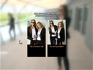 screwing ash-blonde and brown-haired FBI agents point of view