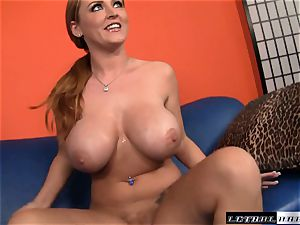 plump boobed Sophie Dee gets a lengthy stiff manstick