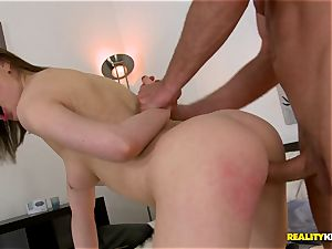 rosy twat Tina Kay arches over and gets banged doggie fashion