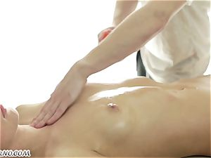 fantastic Russian nymph gets an epic deep-tissue rubdown