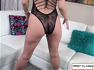 Aaliyah love sucks and pummel a enormous fuckpole in pov style