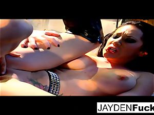 Jayden gets active on a successful solo hard-on