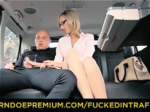 nailed IN TRAFFIC - filthy super-naughty cumshot for milf