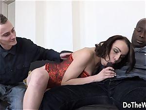 wifey Lindsey finds a massive dark-hued stiffy in her rump