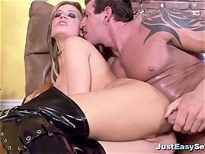 sensual ash-blonde tart gets all of her crevasses plumbed