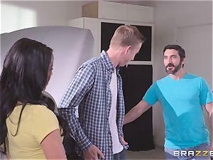 Danny D sticking his boner into Gina Valentina and Lily Jordan
