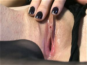 sumptuous honey Sasha Grey gets her pinkish labia pummeled firm by her toy till she jizzes