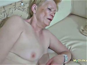 grannie likes 3 way hard-core penetrate