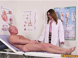 Spex dom CFNM medic sucking patients rod