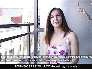 audition FRANCAIS Cowgirl manhood riding with bashful beginner