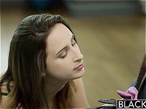 BLACKED big-boobed brunette Ashley Adams first bbc