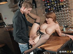 Danny catapulting his hefty prick into steamy ginger-haired
