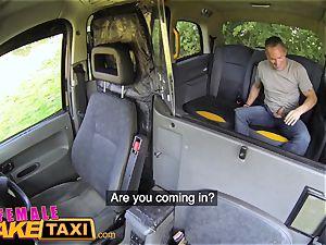 female fake taxi Tea bagging splooging and rock hard fuck