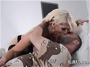 busty blondie Alura Jenson loves a boy in uniform