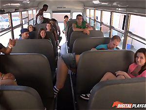 Public school bus fuckbox striking Maddy OReilly