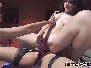 insatiable lesbos go naughty fuck stick penetrating their humid cooters