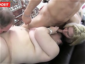 German 4 way fuck-fest with insane plus-size grandmothers
