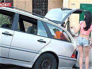 LETSDOEIT - teen plows senior fellow For Free Car Repair