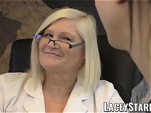 LACEYSTARR - GILF heals patient with lesbo orgasm