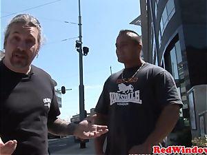 Real dutch prostitute cocksucking in Amsterdam