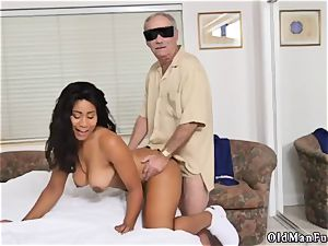 Call father and young nubile very first pornography with senior stud Glenn finishes the job!