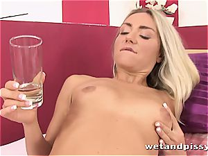 super-hot blondie leaves her hot panties doused after jerking