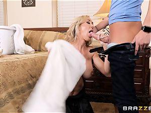 pummeling mummy Brandi enjoy testicles deep