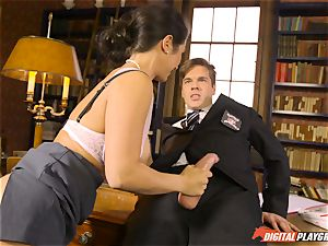 Headmistress Eva Lovia plays with her ultra-kinky student