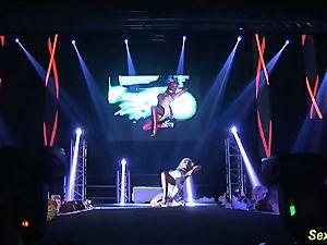 insane flexi stepmom naked on stage