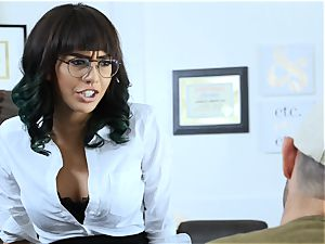 teacher gets a lesson of romping