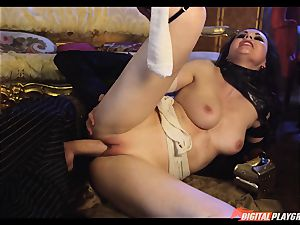 Tina kay has ample fountain on her super-sexy adorable face from frankenstein