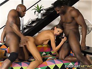 Tina Kay attempts multiracial double penetration