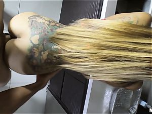 Yurizan Beltran hammered rock-hard after caught with the whipped splooge and dancing
