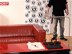 LETSDOEIT - mischievous Russian teenage pounded hard At audition