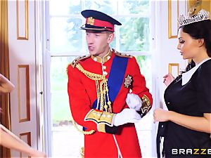 Right royal three-way with Aletta Ocean and Madison Ivy