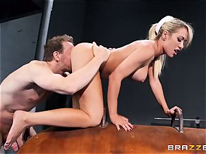 Capri Cavanni concludes her workout with some ginormous sausage