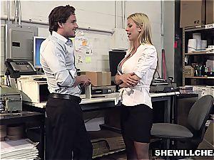 SheWillCheat - buxom milf boss pulverizes new worker