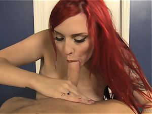 knob addict Amber Ivy anxious to stick lollipop in her facehole