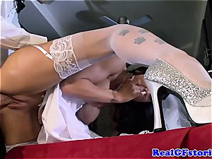 big-titted bride facialized by her ex