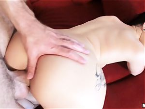 newly wed Katrina Jade is greased up and pulverized by her new spouse