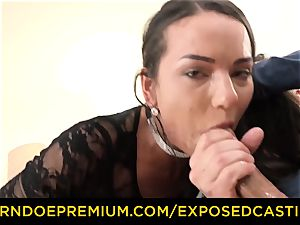 uncovered casting - sumptuous brown-haired has gonzo ass fucking fuck-fest