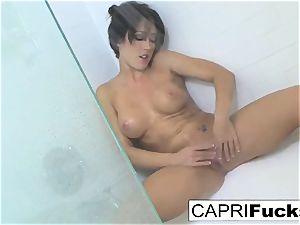 Capri loves to finger her taut twat