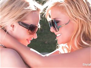 blondie babes Shyla and Nikki get together for some fun