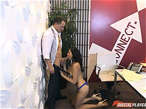 Ariana Marie at her daddys work getting pummeled in his office
