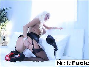 wondrous tease with super-fucking-hot russian mummy Nikita Von James