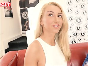 Katrin Tequila pulverized xxx on her very first casting